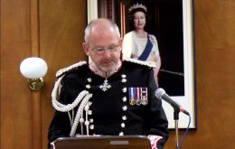 Governor Phillips CBE: in the next 12 months, the Government will lead a conversation about the future of the Falklands. (Pic credit:Falkland Islands Television (FITV)  website fitv.co.fk