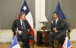Minister Mark Lancaster made a protocol call on Chilean Minister of Defence, Mr. Alberto Espina