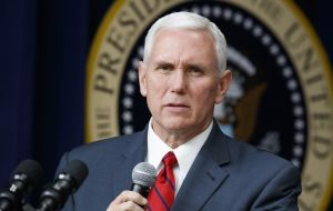 "Pence plans to ""strengthen regional security with allies threatened by the deepening humanitarian, political, diplomatic, and economic crisis caused by Maduro"""