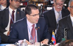 "Foreign Minister Jorge Arreaza said Venezuela rejected the assembly's decision and it would enable the US to continue its ""economic war"" against Maduro"