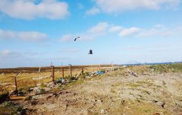 The current landfill site in the Islands has unrestricted access to humans and wildlife