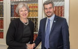 The official picture of Theresa May with Marcos Peña at 10 Downing Street