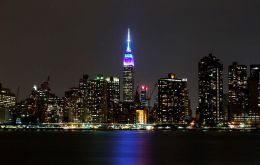 Each year on the evening of World Oceans Day, the  Empire State Building is lit in blue to honor the world's oceans.