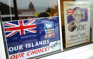 In 2013 the Falkland Islanders voted overwhelmingly to remain as a British Overseas Territory