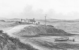 Drawings of early settlements in the Falkland Islands