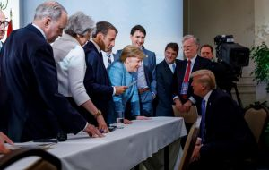The president's latest tirade comes after a war of words erupted between the US and its G7 allies following Mr Trump's decision to reject a joint communiqué