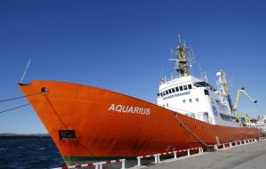 Aquarius is operated jointly by French NGOs Medecine Sans Frontiers (MSF) and SOS Medeterranee