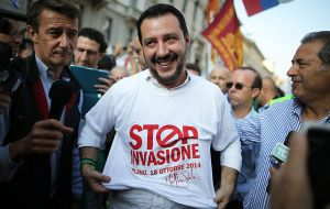 "Salvini said ""Saving lives is a duty, turning Italy into a huge refugee camp is not. Italy is done bending over backwards and obeying, this time THERE IS SOMEONE WHO SAYS NO"""