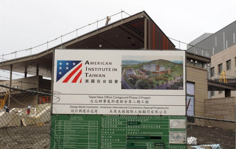 The new facility for the American Institute in Taiwan (AIT), US's de facto embassy in Taiwan, has a cost of US$ 250 million, and will open formally later this year.
