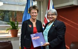 "British Ambassador Carolyn Davidson said that NGOs receiving the donation work in a wide range or issues, ""a very valuable in this emergency"""