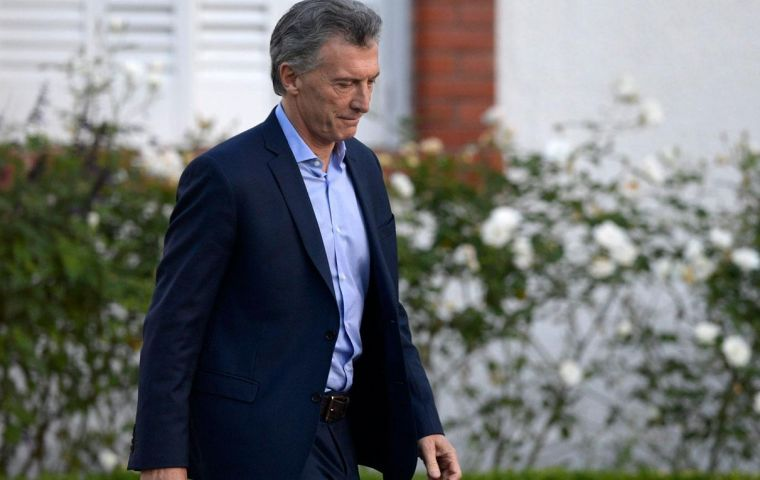 """An abdominal ultrasound scan showed the existence of a pre-existent pancreatic cyst"", according to a medical checkup of president Macri"