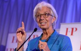 "IMF Managing Director Christine Lagarde said that a trade war ""gives no winner and we find generally losers on both sides."""