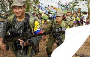 One of the main issues at play in the election is the peace agreement between the government and the rebel group, which is known as FARC.