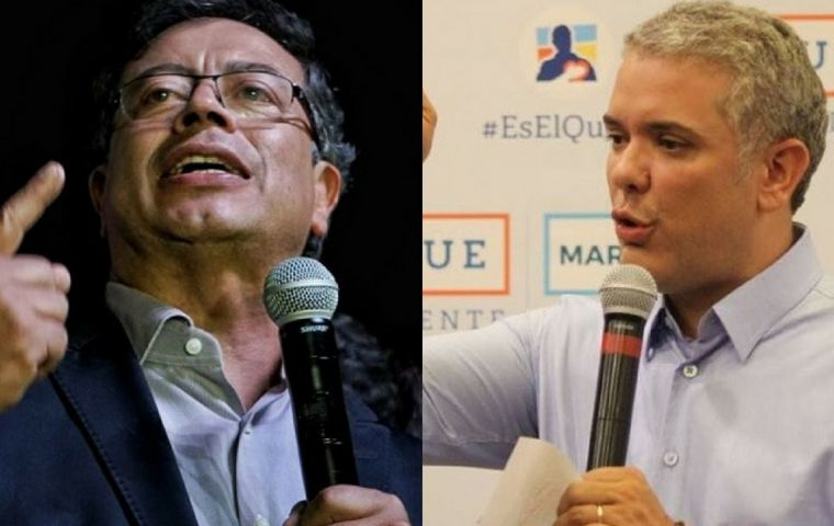 A poll by think tank Latin American Strategic Center of Geopolitics held between May 29 and June 6 showed that Petro was now just 5.5 points behind Duque