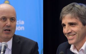 Last week Macri replaced Central Bank head Federico Sturzenegger with the former finance minister, Luis Caputo, a former Deutsche Bank executive