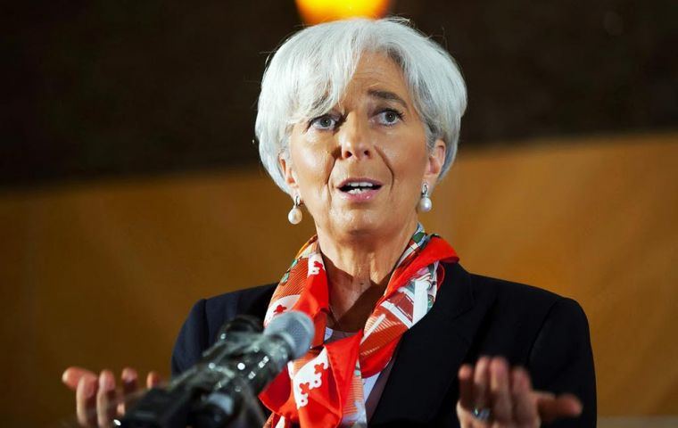 Christine Lagarde said a recent shift in market sentiment and ill-fated confluence of factors have placed Argentina under significant balance of payments pressures