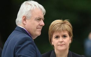 Ms Sturgeon and Mr Jones issued a joint statement in which they repeated their call for the UK to remain in the single market and customs union after Brexit