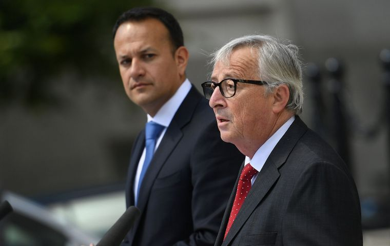 Juncker assured Taoiseach Leo Varadkar that the EU would not waver on what he made clear was a pivotal issue.