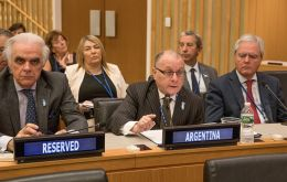 """President Macri has prompted a new phase in relations with the UK"", Faurie (c) said on Thursday during the C24 debate at the UN building in New York."