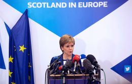 "Scottish First Minister accused the UK government of ""ripping up"" the devolution settlement. (GEOFFROY VAN DER HASSELT—AFP/Getty Images)"
