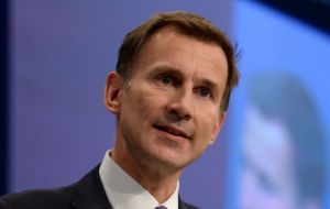 "Health Secretary Jeremy Hunt said: ""It's completely inappropriate for businesses to be making these kinds of threats"""