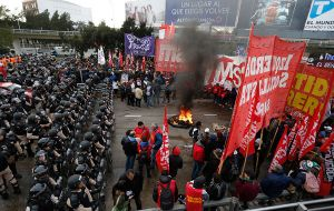 """The strike had a very high level of compliance throughout the country,"" Juan Carlos Schmid, leader of the General Confederation of Workers (CGT) said"