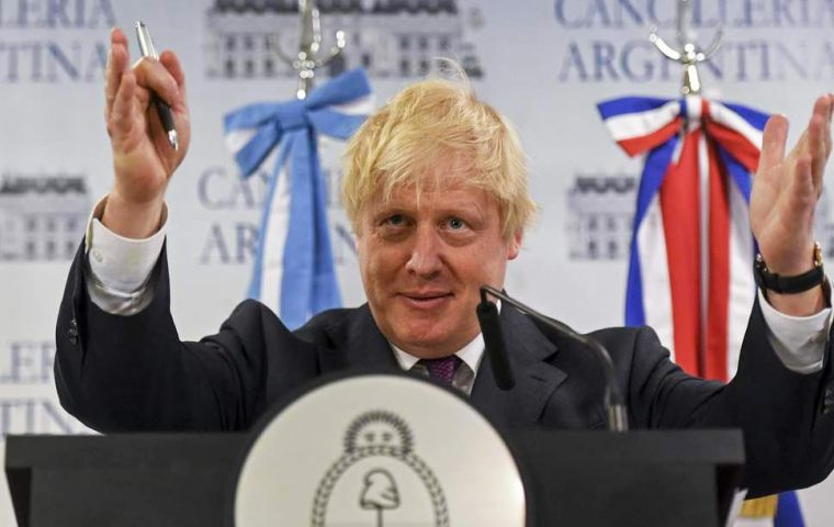"The decision comes a few weeks after Foreign Secretary Johnson visited Buenos Aires, where he vowed ""an intensifying relationship"" with Argentina"