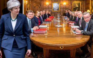 "Theresa May has been under unrelenting pressure within her own party, and has called her cabinet for ""a make-or-break meeting at Chequers on 6 July"""