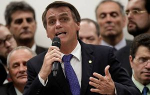 The poll conducted by industry group Ibope showed far-right congressman Jair Bolsonaro leading with 17% of voters' intentions