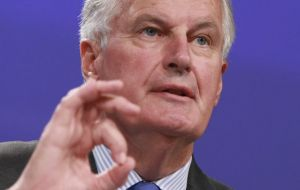 "Brussels' chief negotiator Michel Barnier warned time was short and ""huge and serious divergence"" remained over issues relating to Ireland and Northern Ireland"