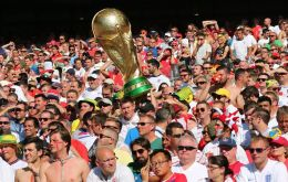 FIFA said 2.2 million fans had attended matches so far and of 1.6 million Fan IDs issued, 874,000 were sent to Russian citizens, China 61,000 and US citizens 50,000