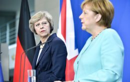 May's visit to the German capital is framed by a period of growing tensions between London and Brussels