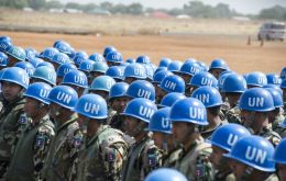 The UN currently has about 100,000 peacekeepers operating around the world, on fourteen active missions.