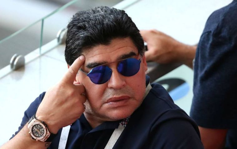 "FIFA says Maradona's ""insinuations"" were ""entirely inappropriate and completely unfounded."""