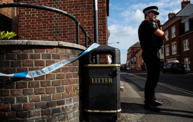 The pair was hospitalized after being found unwell in Amesbury, close to Salisbury where ex-double agent Sergei Skripal and his daughter Yulia were attacked