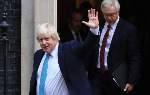 "Boris Johnson, whose departure followed that of Brexit Secretary David Davis and several junior figures - accused Mrs. May of pursuing a ""semi-Brexit""."