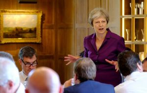 "Last Friday at prime minister's country retreat at Chequers Mrs. May brokered a ""collective"" agreement on proposals for the future relationship EU/UK"