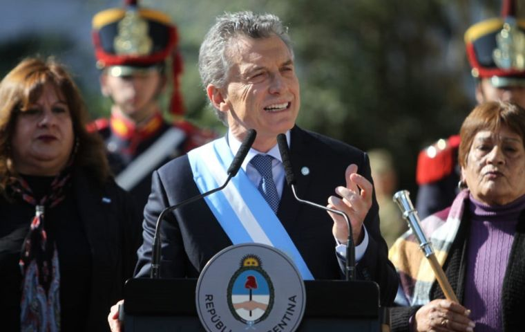 """Argentina has left behind the idea, the belief of a messiah which will come to save us"", said president Macri from Tucumán"