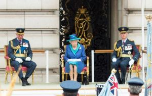 "The Queen congratulated the RAF for a ""remarkable contribution to defense"" over the last 100 years, saying ""tenacity, skill and gallantry"" had been its hallmarks."