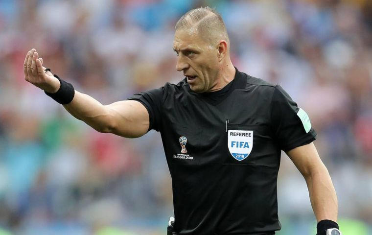 Nestor Pitana is no newcomer to World Cup action, having also officiated four games at Brazil 2014.