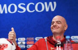 "Infantino commended everyone ""involved in the participation, organization of the World Cup"", making sure to thank Russia and president Vladimir Putin"