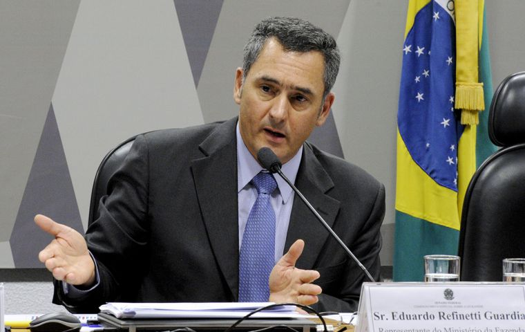 Brazil's finance minister, Eduardo Guardia, said the government's growth forecast for this year, stands at around 1.6%, well below the 2.5% of its previous forecast