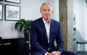 "Describing the government's approach as ""a total and complete mess"", Tony Blair stated that the only way out was to hold another referendum on the issue (AFP)"