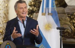 """Clearly the levels of growth that we are coming from are going to diminish,"" Macri said in a press conference"