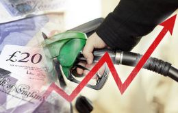 """Petrol prices rose by 2.7% per liter between May/June 2018 to stand at 128 pence per liter in June, the highest average price since September 2014,"" the ONS said"