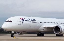 The Latam airlink with Punta Arenas, Chile, operating from MPA complex