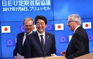 Since trade negotiations with the US were frozen after Donald Trump's 2016 presidential election victory, the EU has struck trade deals with Japan and Mexico