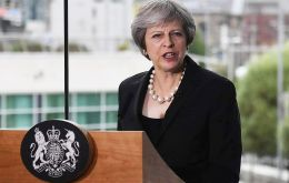 "PM May accepted a hard border between Northern Ireland and the Irish Republic once Britain leaves the bloc would be ""almost inconceivable"""