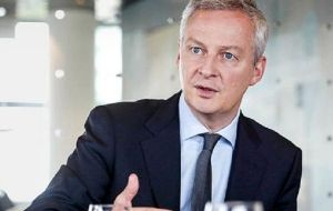 French Finance minister Bruno Le Maire rebuffed the overture saying that Washington must drop its tariffs before any talks could start