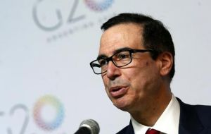 Treasury Secretary Steve Mnuchin sought to woo Europe and Japan with the offer of free-trade deals, as Washington tries to gain leverage in its dispute with China.